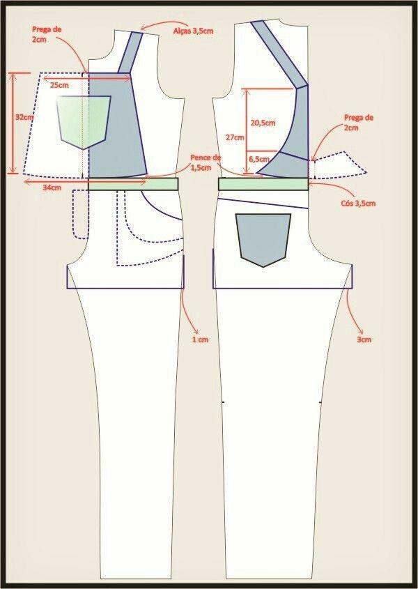 Overoles mujer | patrones overol Arantza | Pinterest | Costura, Ropa ...