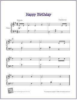 Happy Birthday Free Easy Piano Sheet Music Sheet Music Piano Sheet Music Free Sheet Music