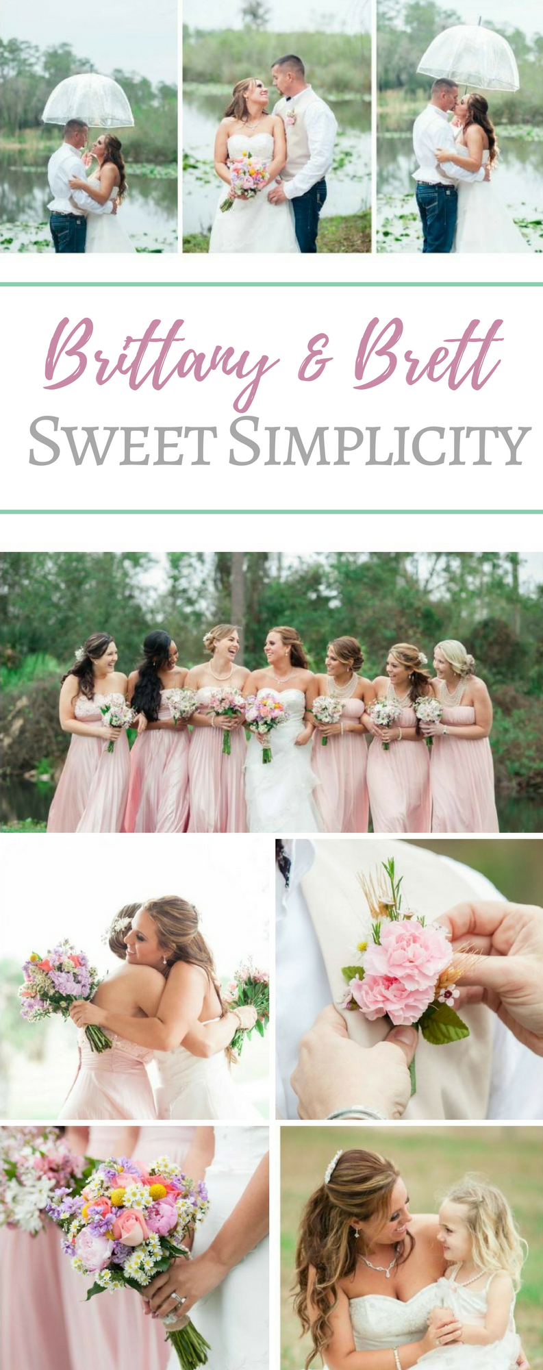 Brittany & Brett - Sweet Simplicity | Blush pink, Weddings and ...