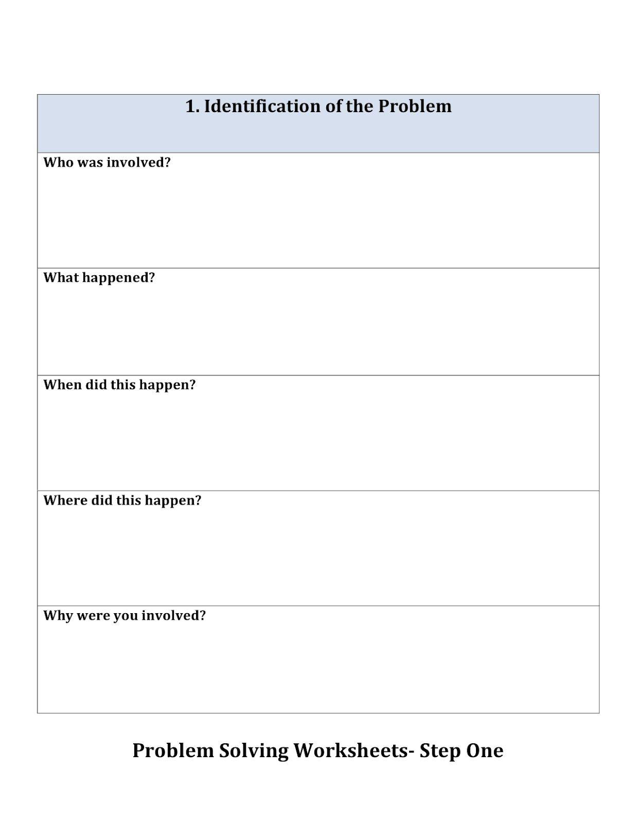 Worksheets Social Problem Solving Worksheets problemsolvingworksheets1 jpg pixels counseling pixels