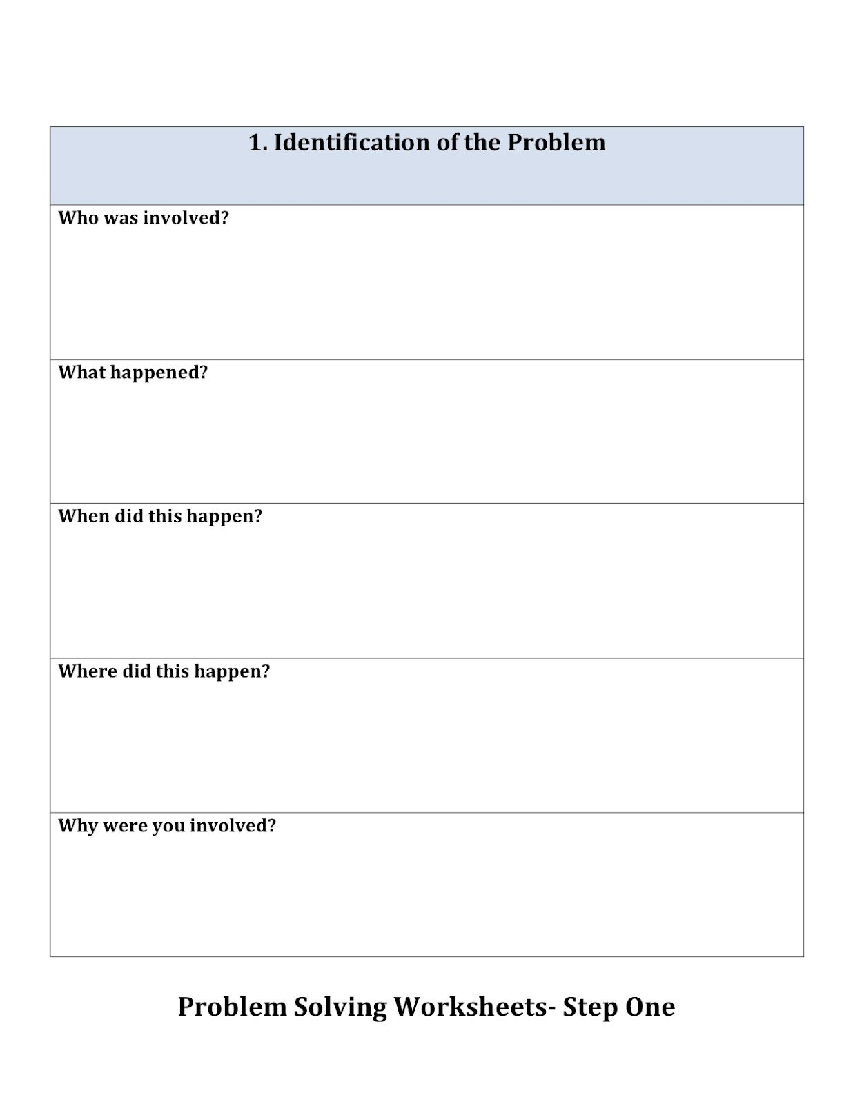 Problem Solving Worksheets 1 1 236 1 600 Pixels