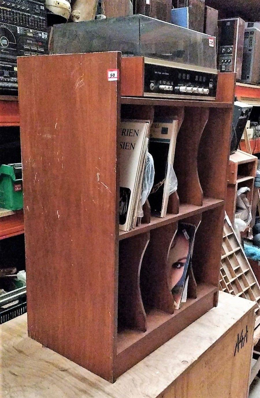 estantera para tocadiscos y lps estantera recuperada especial para guardar discos de vinilo
