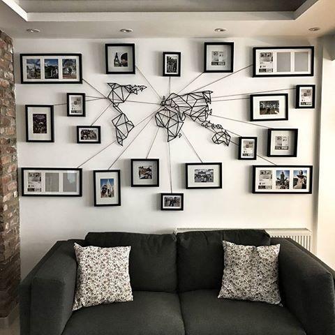 Notre décoration murale métal carte du monde pour un mur design un assemblage de cadre pour retracer tous vos voyages a découvrir sur le shop