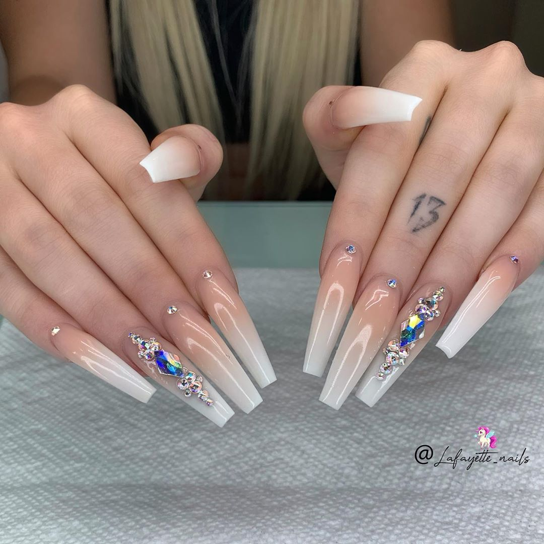 Image May Contain One Or More People And Ring Best Nail Salon Rose Gold Nails Swarovski Nails