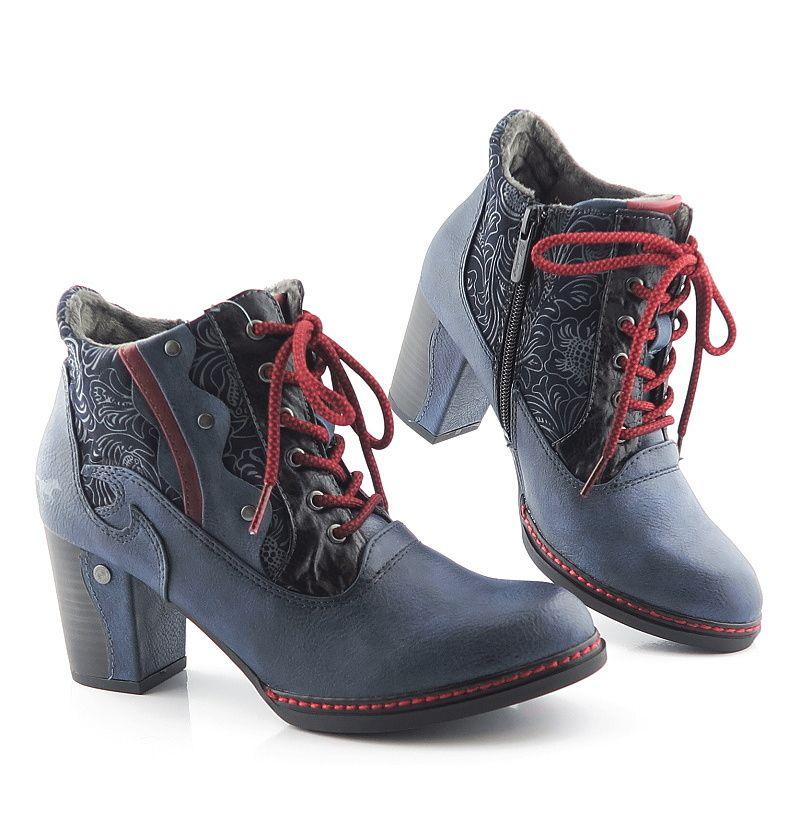 ccee6b377dee Výrazné modré členkové topánky MUSTANG