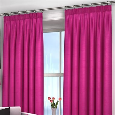 Harrow Fuschia Lined Curtains