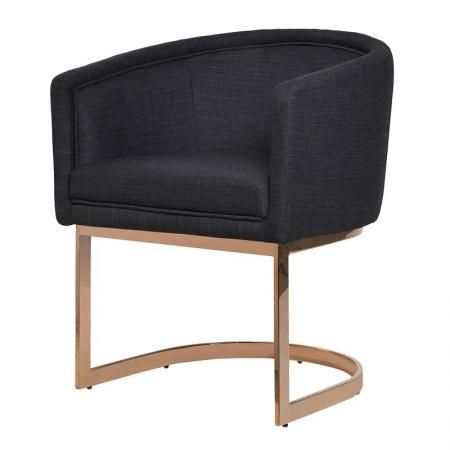 Black Dining Chair Rose Gold Metal Frame – Metal Frame Dining Chairs