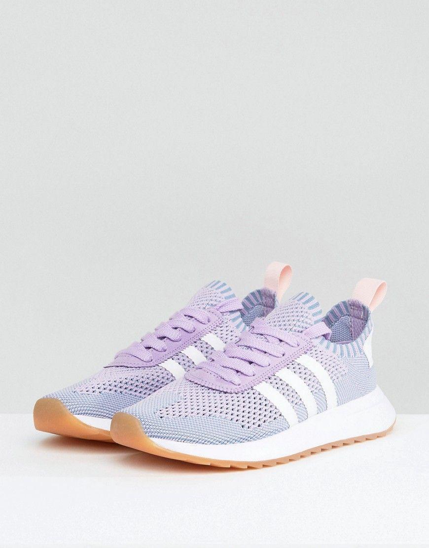e29d24f3b42e adidas Originals FLB Primeknit Sneaker In Lilac - Purple