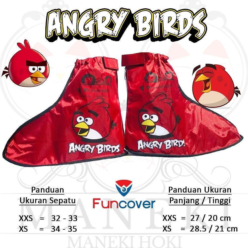 Jas Hujan Sepatu Anak Funcover Kids Angry Birds Pelindung Sepatu