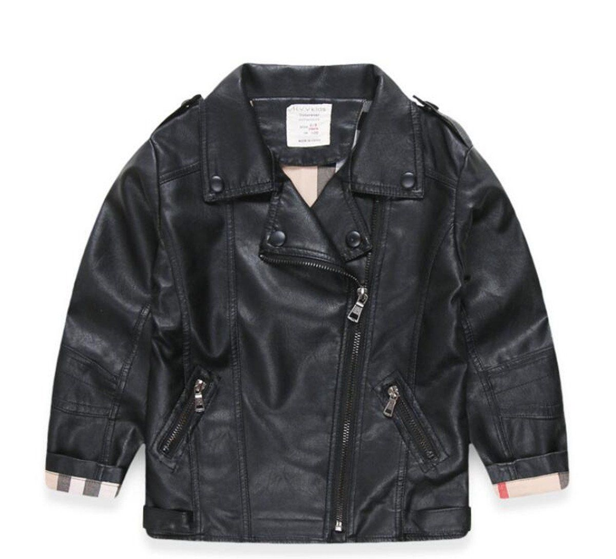 LJYH New Kids Faux Leather Jackets For Boys & Girls