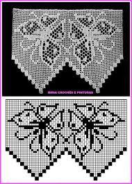Resultado de imagem para barra toalha croche borboletas