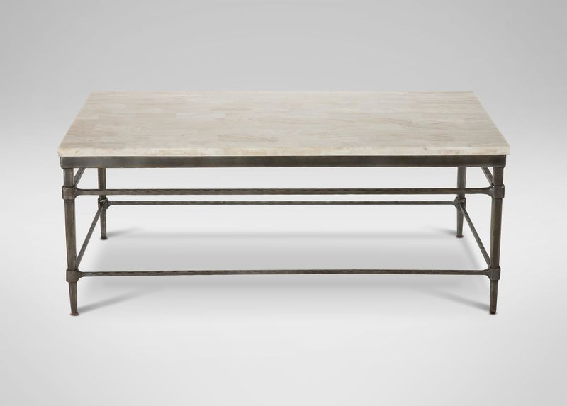Vida Rectangular Stone Top Coffee Table Stone Coffee Table
