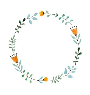 Floral frame vector. watercolor crown - by Sunday_cake on ...