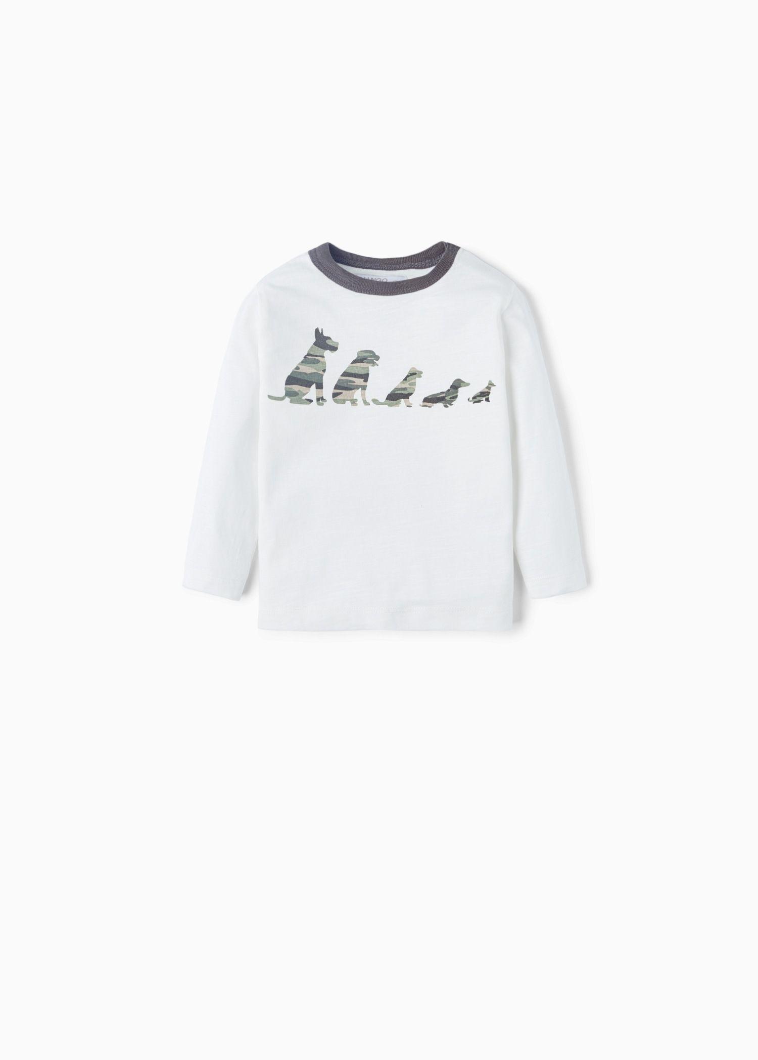 T-shirt algodão estampada - Crianças | MANGO