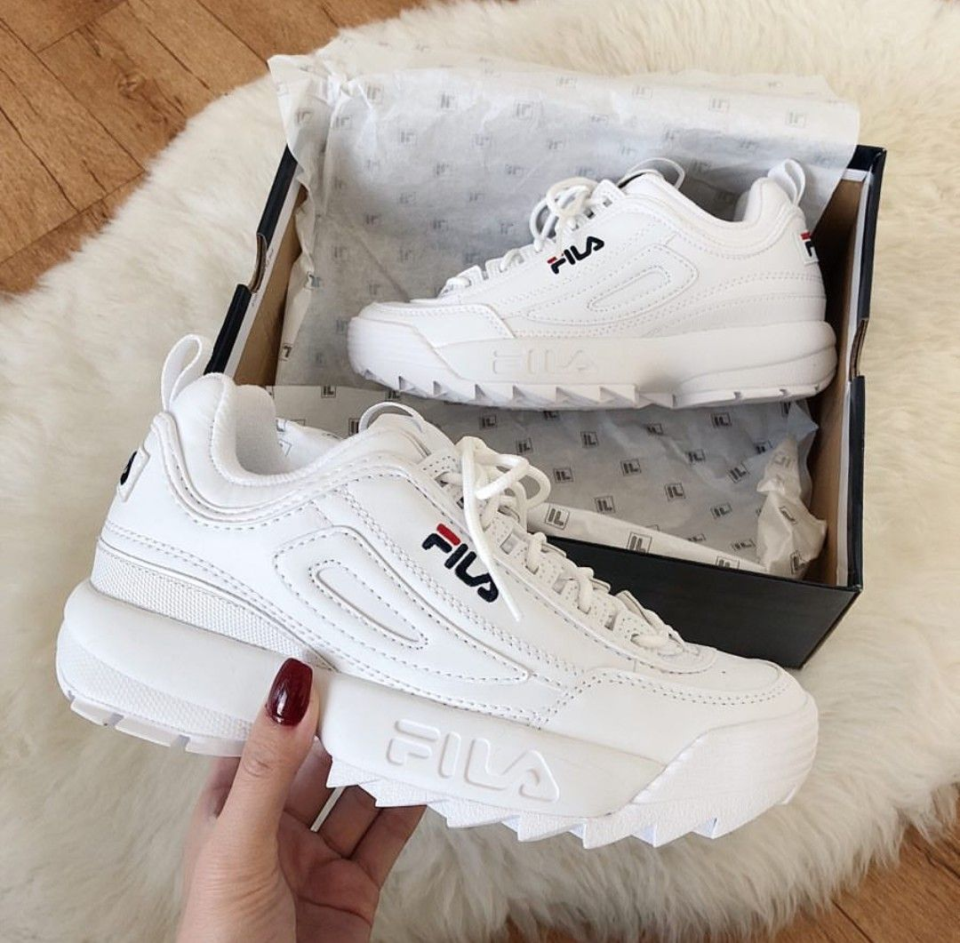 Fila Disruptor in weiß/white // Foto: morningcloudcoloring ...