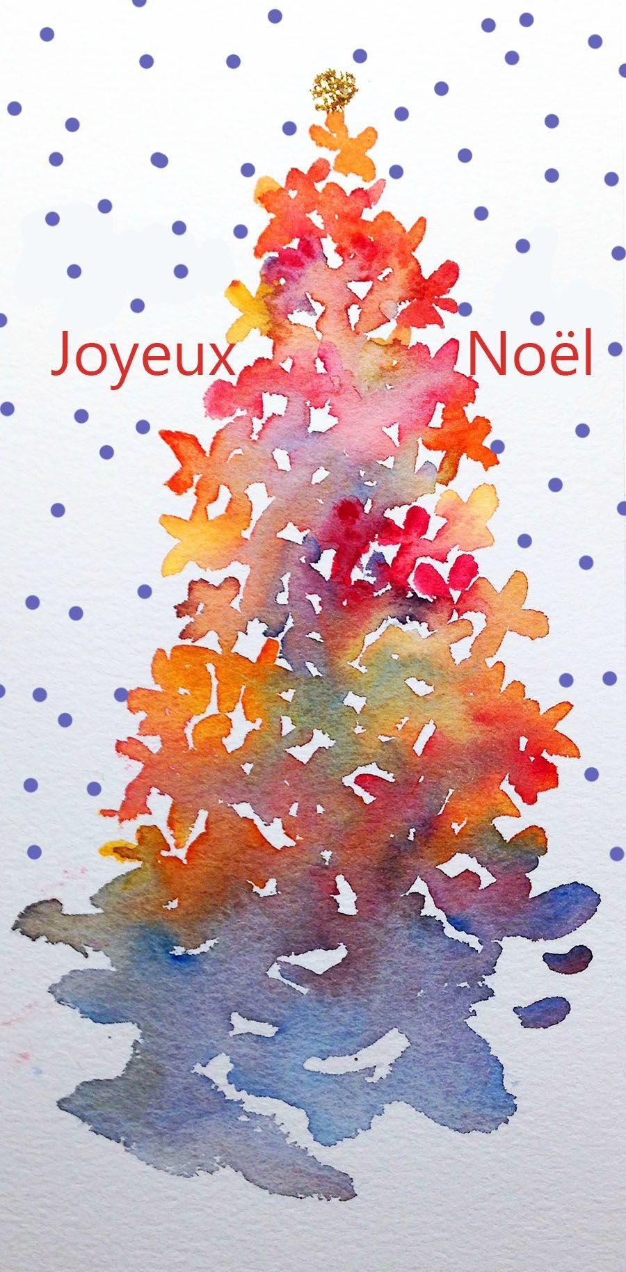 Noel2016 Cartes Aquarelle De Noel Aquarelle Noel Peintures De Noel