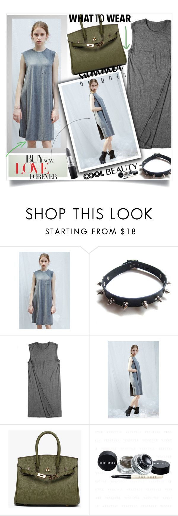 """""""Grey Casual Dress"""" by lillili25 ❤ liked on Polyvore featuring WithChic, MAC Cosmetics, casual, grey, coolstyle, modelstye and armycolour"""