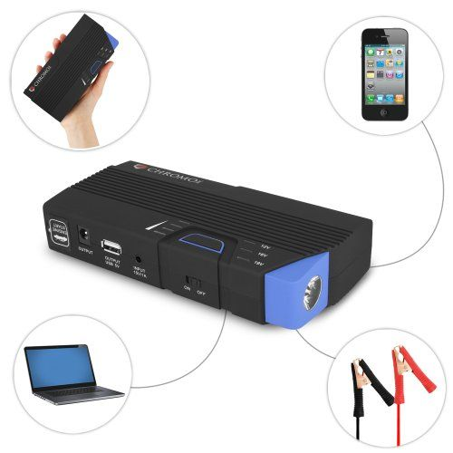 Powergo 12v Portable Car Jump Starter And Power Bank With