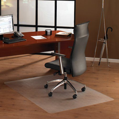 Cleartex XXL Polycarbonate General Office Mat for All Pile Carpets, Clear, Rectangular, 60 x 118 Inches (FR1115030023ER)  The Extra Large Ultimat Polycarbonate Office Mat from Floortex provides the ultimate in quality, clarity and durability. This mat offers ergonomic benefits for the chair user by providing easy glide movement and reduced leg fatigue. The clear formulation allows the beauty of your flooring to show through, with a textured finish to provide friction to keep the chai..
