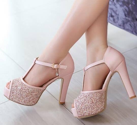 1ddad0ca916  Zapatos  Rosas  Brillo Anna Dello Russo