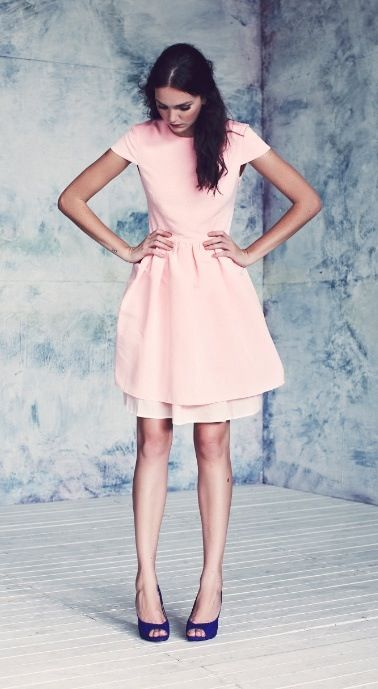 Light Pink Dress Formal Smart Summer Winter Fashion Pretty Dresses Pretty Outfits