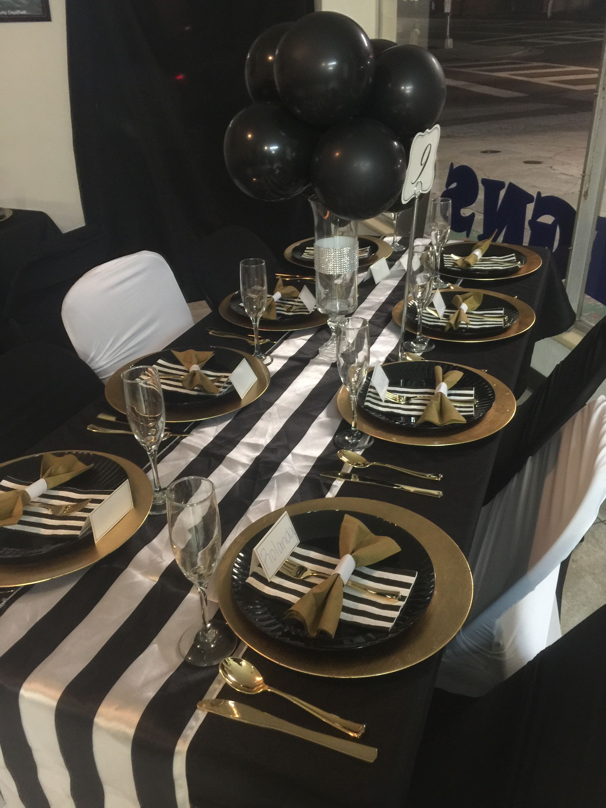 Black Gold And White Party Decorations White Party Decorations