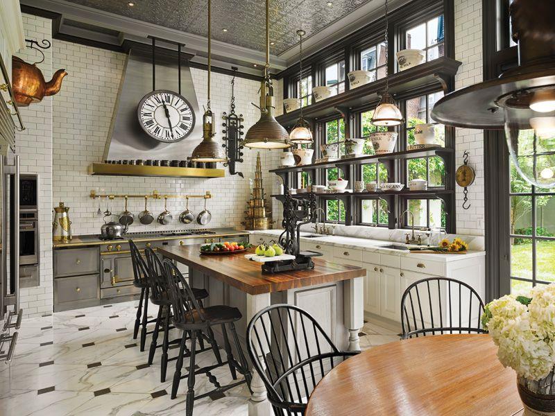 A Kitchen Master Bath Makeover For A Victorian Mansion Eclectic Kitchen Interior Design Kitchen Kitchen Interior