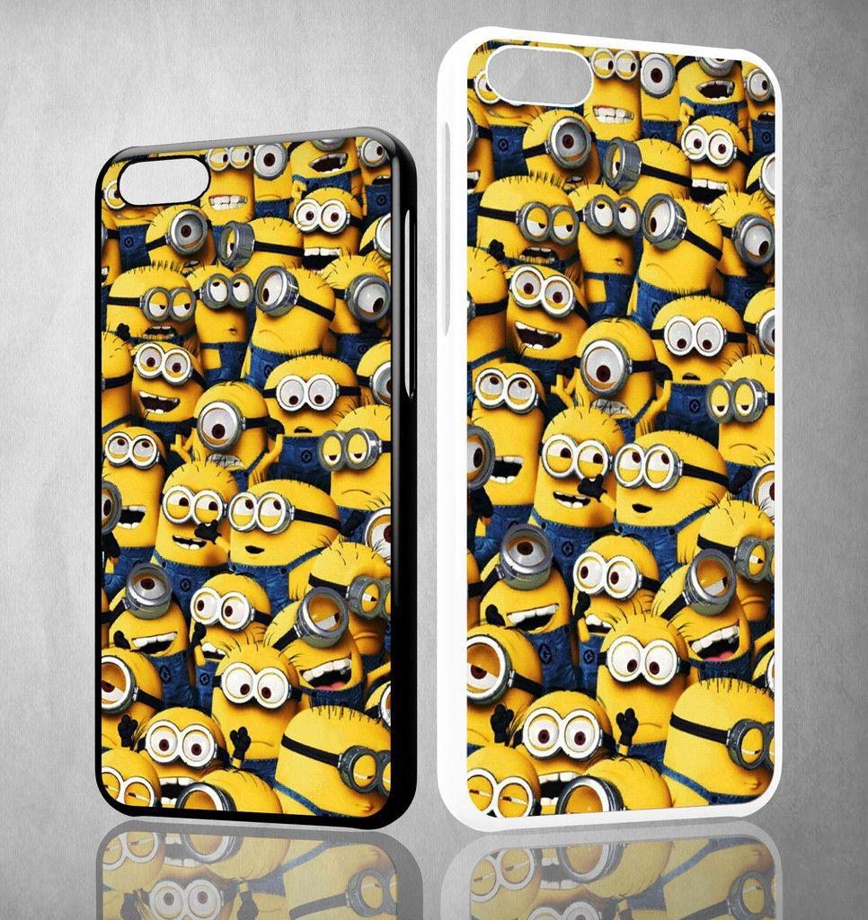 Minions Pattern Y1329 iPhone 4S 5S 5C 6 6Plus, iPod 4 5, LG G2 G3 Nexus 4 5, Sony Z2 Case
