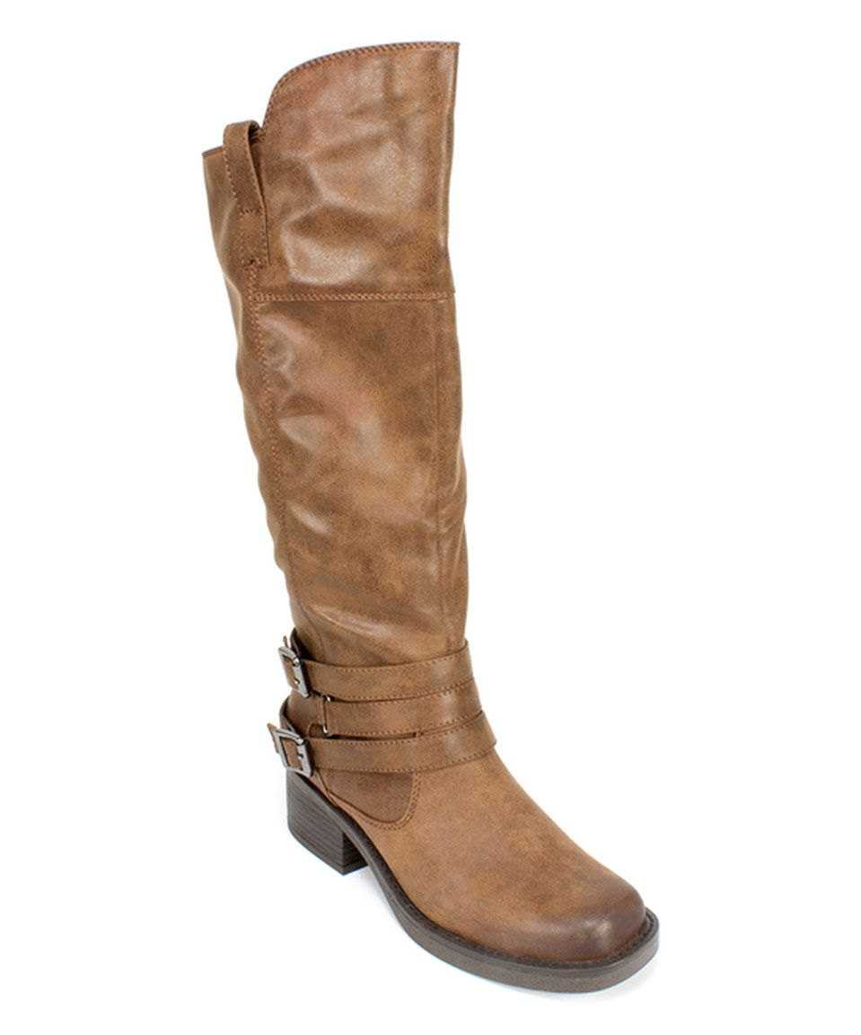 This White Mountain Chestnut Gypsum Boot by White Mountain is perfect!  #zulilyfinds