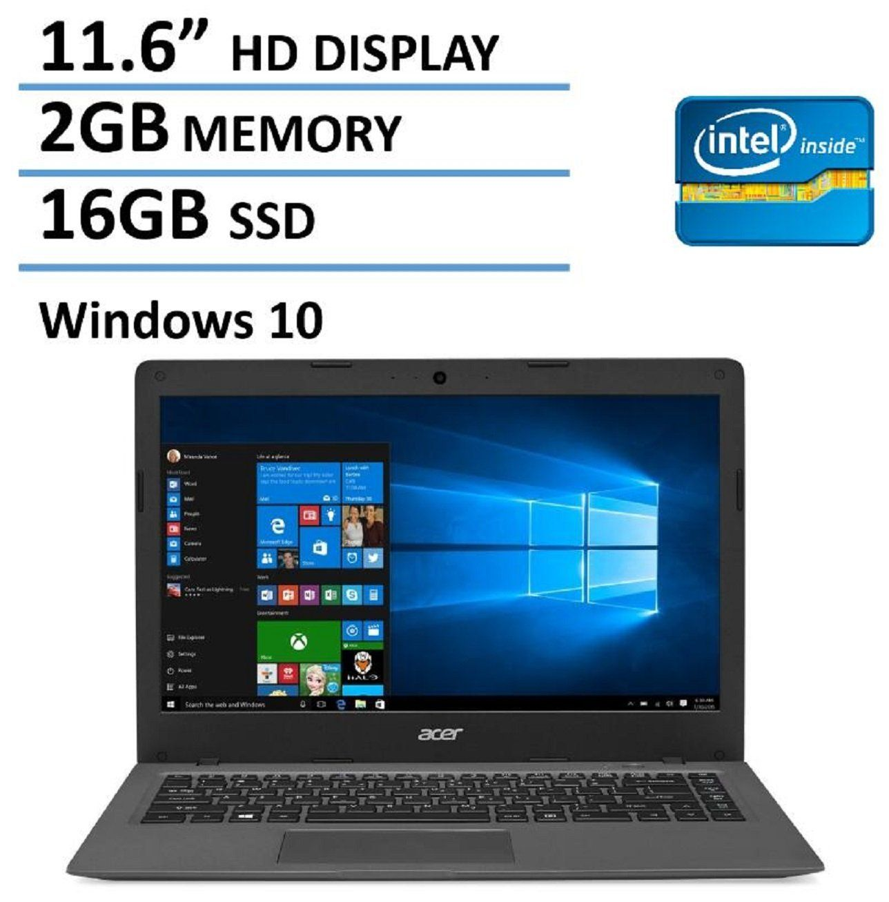 2016 NEW Edition Acer Aspire One 11 Cloudbook 11.6inch
