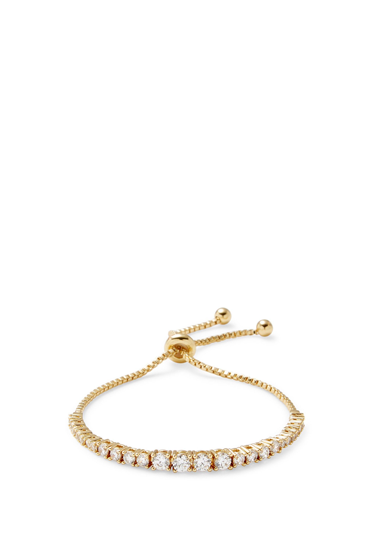 Rebecca Minkoff Stone Pulley Bracelet in Metallic Gold uKWJqEfS5