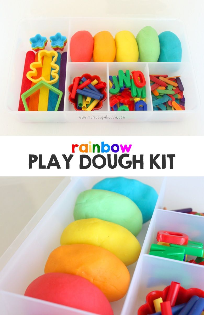 Rainbow Play Dough Kit - Mama.Papa.Bubba.