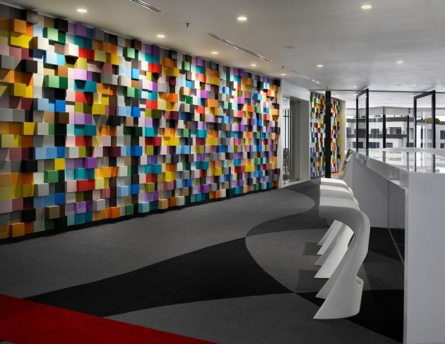 Superb Office Decor   Vibrant Sherwin Williams Office Interior Design In Malaysia