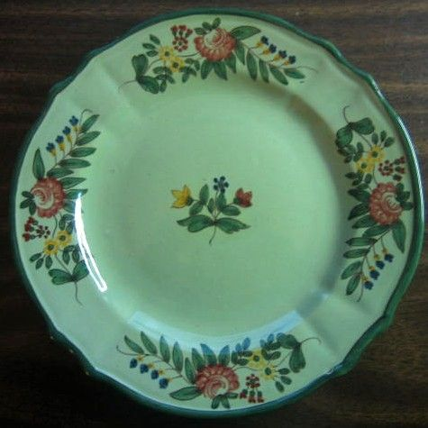 Decorative Dishes - Green Handpainted Italian Italy Folk Art Floral Plate $19.99 ( & Decorative Dishes - Green Handpainted Italian Italy Folk Art Floral ...