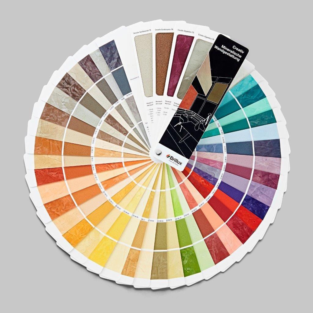 Farbtonkarte Creativ Mineralische Wandgestaltung