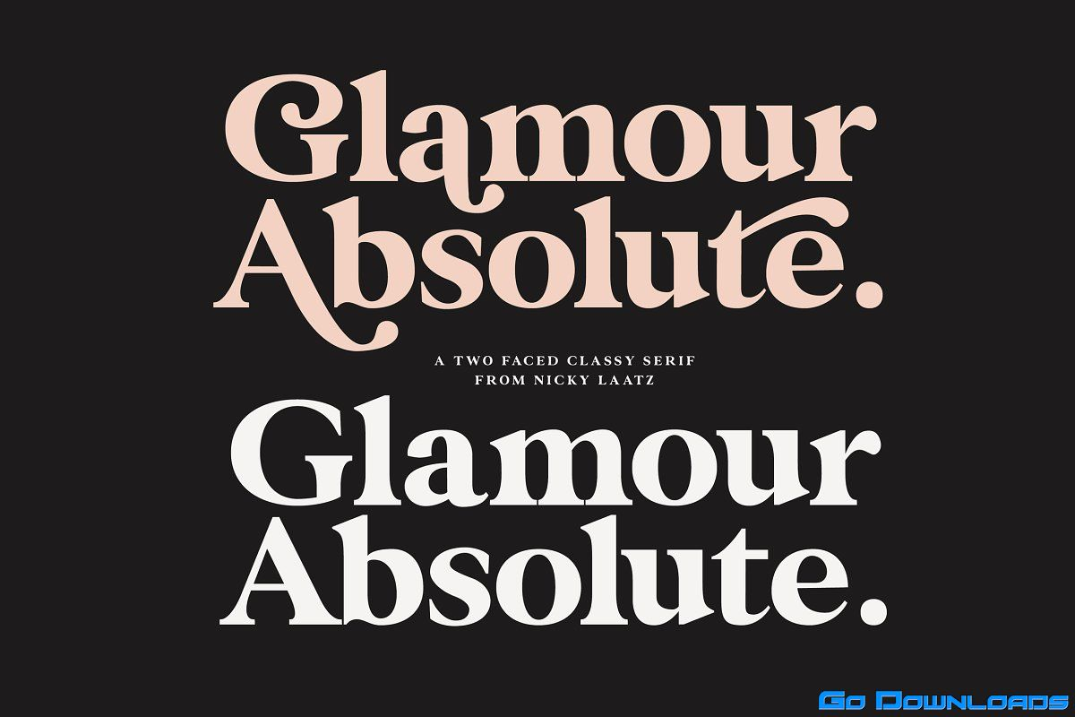 Glamour Absolute Modern Vintage Font Free Download A Two Faced Beauty Modern Or Vintage If You Are Going Vintage Retro Acce In 2020 Vintage Fonts Lettering Glamour