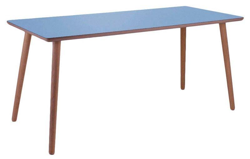 Just Blue Skrivebord - Lys kant - Smukt og farvefuldt skrivebord. Dette flotte, lyseblå bord vil give dit hjem et friskt pust. Brug bordet som skrivebord på kontoret, børneværelset, teenageværelset eller endda som spisebord.