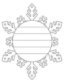 snowflake template writing  Snowflake and Snowman Shape Book Writing Frame | Shape books ...