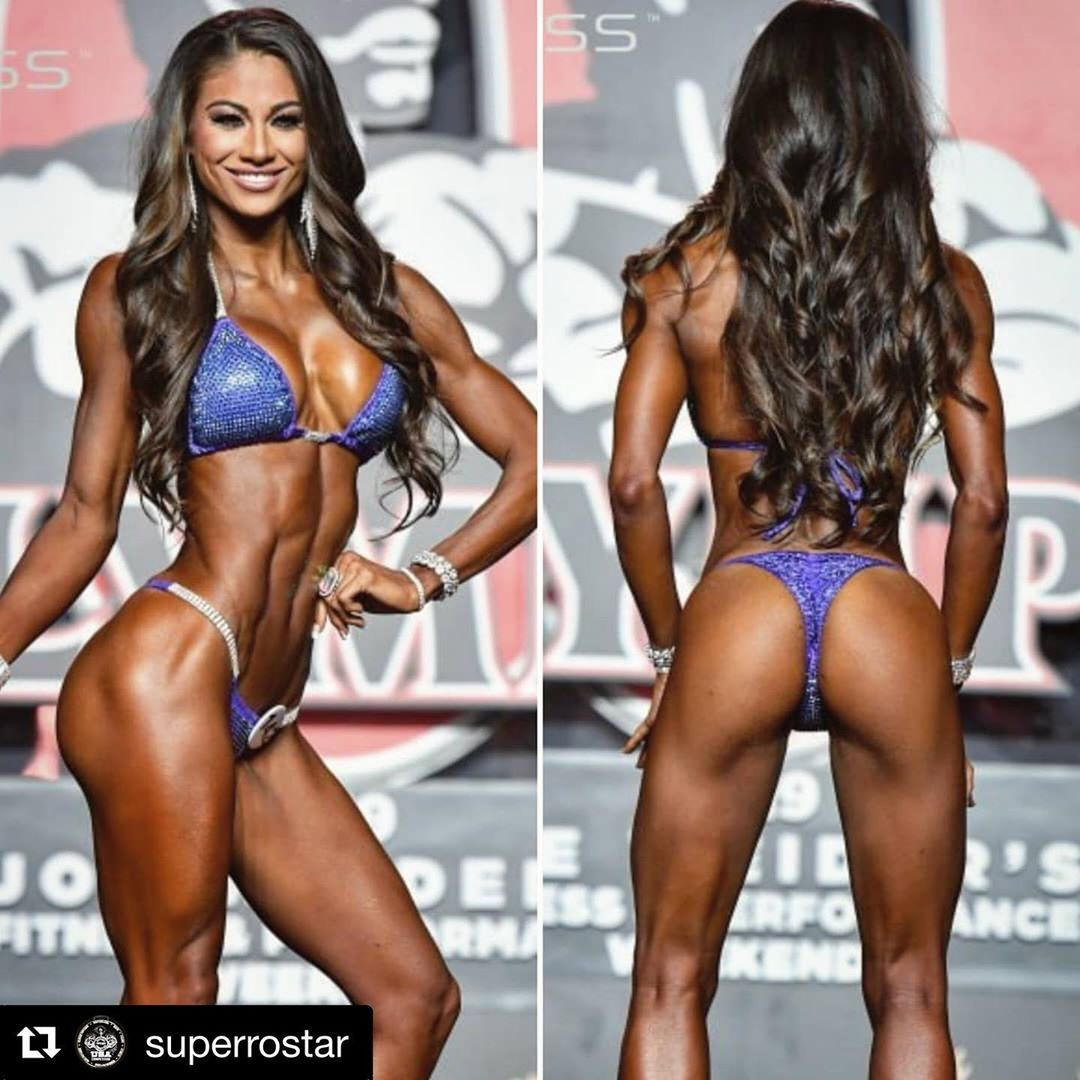 #Repost @superrostar with @get_repost ・・・ @janetlayug 2nd place 🥈 at  2019 BIKINI OLYMPIA (Las Ve...