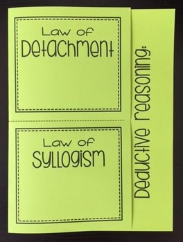 Deductive Reasoning Law Of Detachment Law Of Syllogism Foldable In 2021 Law Of Detachment Math Interactive Notebook Syllogism