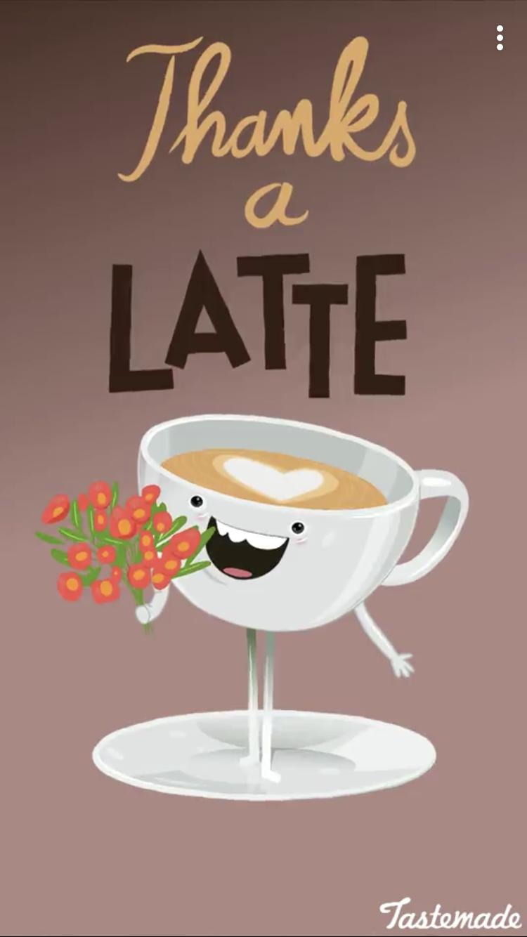 Thanks a lot, latte pun Holiday memes funny, Cute jokes