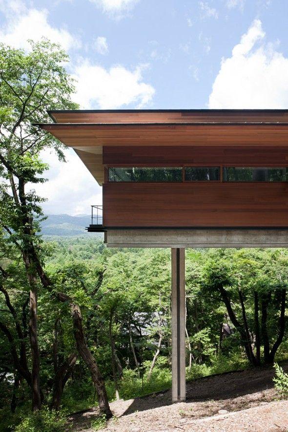 Maison perchée à Asamayama par Kidosaki Architects Studio - Maison En Bois Sur Pilotis