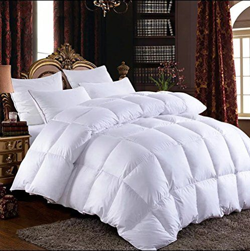 Elegant King Size 100 Siberian Goose Down Filled Comforter White