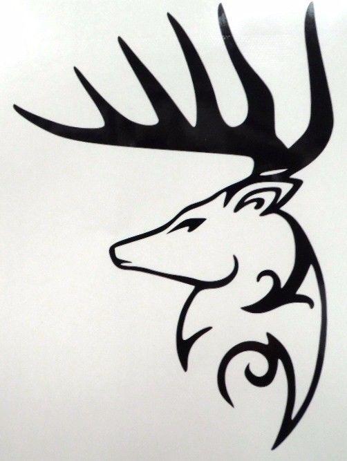 Big Buck Deer Head Silhouette Car Truck Window Vinyl Decal Sticker 10 COLORS #TheStickerEmporium