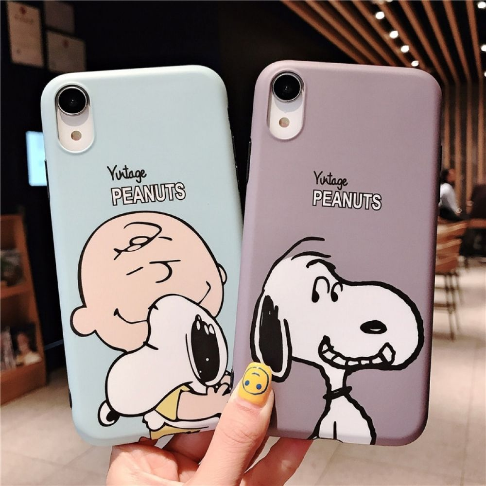 Cartoon Charlie Brown Friends Brand Case for iPhone X XS Max XR 7 ...