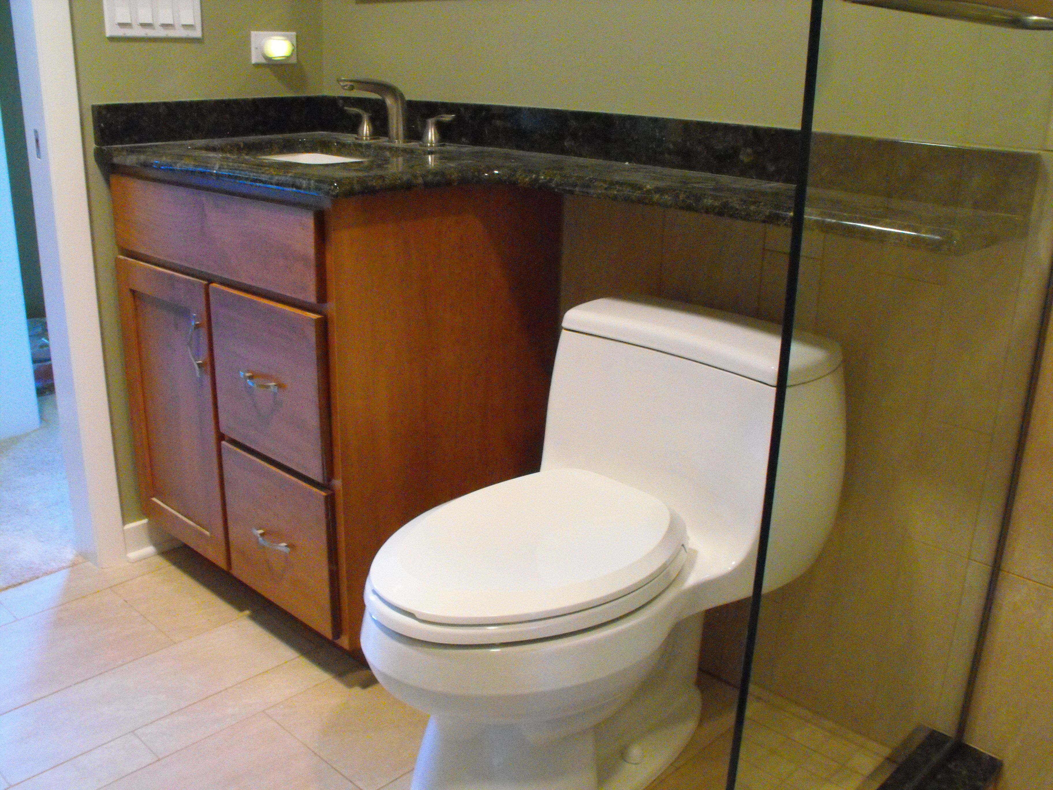 Over Toilet Ideas Bathroom: The Banjo Sink Top Extends Above The Toilet.