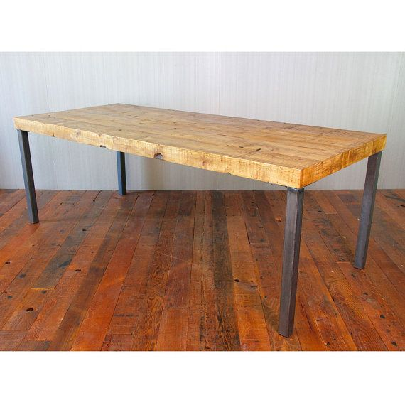 Reclaimed Wood Dining Table Hudson Steel Legs Tavoli Da Pranzo