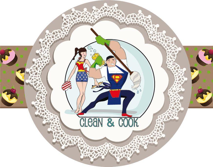 Créa graphique, sticker carnet Clean & Cook