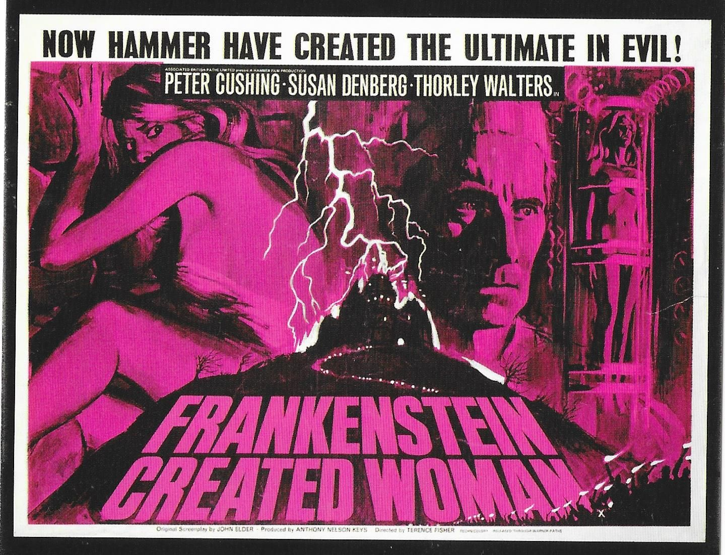 Poster for 'Frankenstein Created Woman' (1967) (With images ...