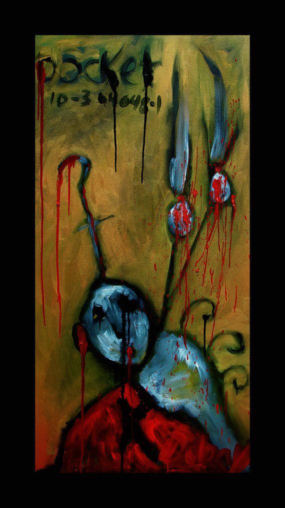 Kelli Dubay Original Art Oil Painting 24x48x15 by Megalomaniart, $800.00